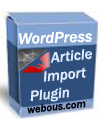 WordPress Article Import Plugin