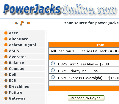 Powerjacksonline.com is powered by custom PHP CMS engine. It allows owner to maintain website easily: manage categories, products, prices, 